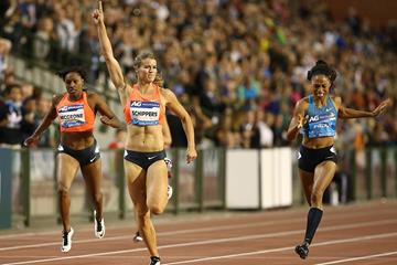 Dafne Schippers winning the 200m at the 2015 IAAF Diamond League final in Brussels (Giancarlo Colombo)