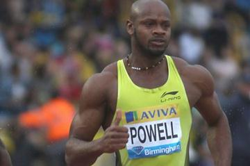 Asafa Powell in Birmingham (Getty Images)