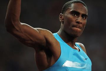 US high jumper Erik Kynard at the 2013 IAAF London Diamond League meeting (Getty Images)