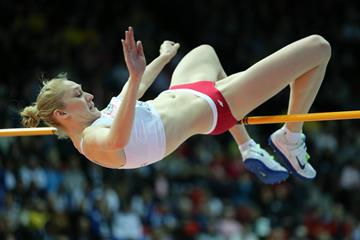 Poland's Kamila Licwinko in action in the high jump (Getty Images)
