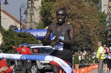 Elijah Kemboi takes the Kosice Peace Marathon title (Kosice Peace Marathon organisers)