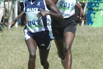 Florence Kiplagat en route to the Kenyan title in Nairobi (Elias Makori)