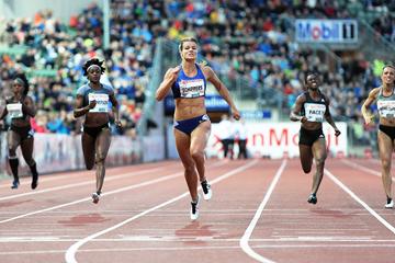 Dafne Schippers wins the 200m at the IAAF Diamond League meeting in Oslo (Mark Shearman)