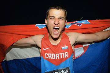 Matija Greguric in the Hammer Throw at the IAAF World Youth Championship 2013 (Getty Images)