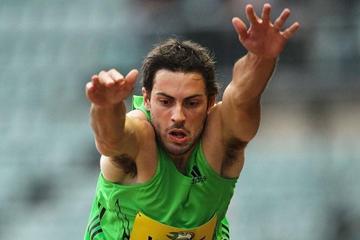 Mitchell Watt sails 8.38m in Sydney (Getty Images)