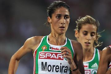 Sara Moreira in action in the 10,000m (Getty Images)