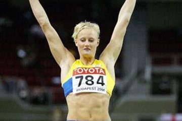 Carolina Kluft (SWE) qualifies for the Long Jump final (Getty Images)