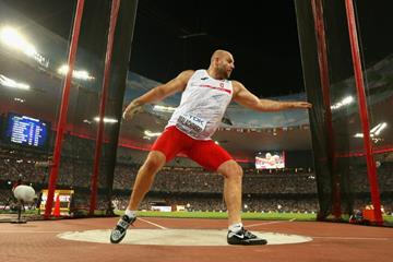 Piotr Malachowski in the discus at the IAAF World Championships, Beijing 2015 (Getty Images)