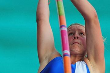 Holly Bleasdale soars to the UK title in Birmingham (Getty Images)