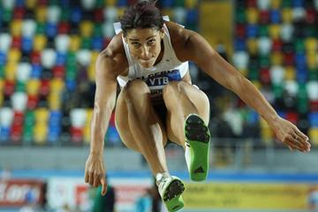 Baya Rahouli of Algeria competes in the women's Triple Jump qualification during day one - WIC Istanbul  (Getty Images)