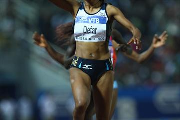 Meseret Defar completes the distance double at the World Athletics Final with victory in the 3000m (Getty Images)