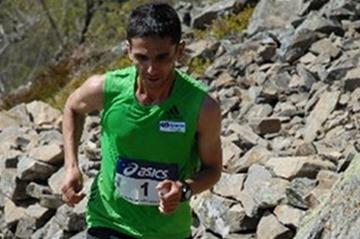 Ahmet Arslan en route to his victory on Grand Ballon (Organisers)