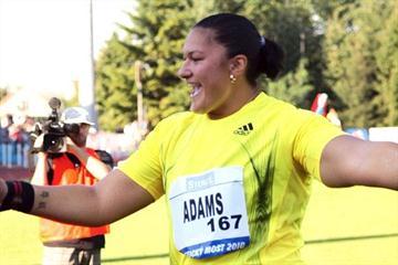 Valerie Adams-Vili in Dubnica, Slovakia (organisers)