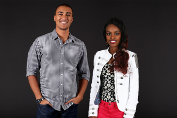 Ashton Eaton and Genzebe Dibaba, studio shots taken in 2013 and 2014 (Giancarlo Colombo / IAAF)