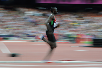 David Rudisha during the London 2012 Olympic Games ()