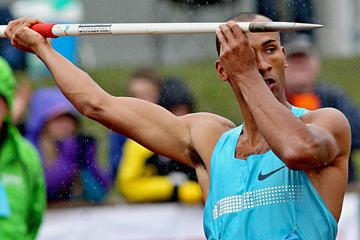 Damian Warner at the 2013 hypo Meeting in Gotzis (PHOTO PLOHE)