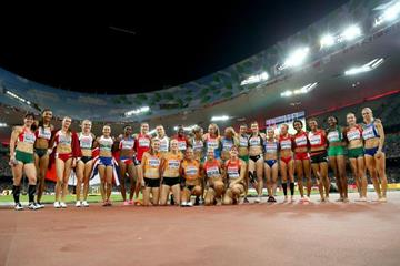 The heptathlon field at the IAAF World Championships, Beijing 2015 (Getty Images)