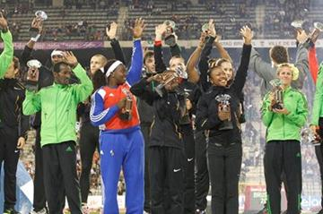 2011 Samsung Diamond League Trophy winners in Brussels (Gladys Chai van der Laage)