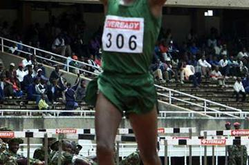 Robert Rono wins the 1500m at the 2003 Kenyan Armed Forces Championships (Patrick Olum/Omulo Okoth)
