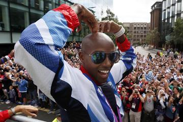 Great Britain's Mo Farah at the Olympics & Paralympics Team GB - London 2012 Victory Parade (Getty Images)