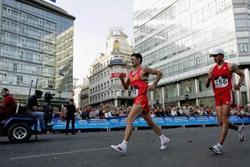 Francisco Javier Fernández en route to his win in La Coruña (Getty Images)