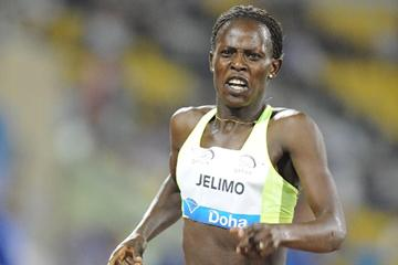 Pamela Jelimo wins the 800m at the 2012 Samsung Diamond League in Doha (Jiro Mochizuki)