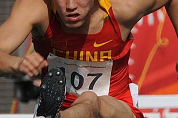Liu Xiang on his way to victory in Hong Kong where he secured his third East Asian Games title (AFP / Getty Images)