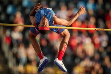 Jah-Nhai Perinchief in the high jump at the IAAF World U20 Championships Bydgoszcz 2016 (Getty Images)