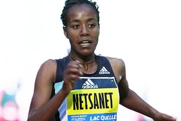 Netsanet Gudeta wins the 10,000m in Herzogenaurach (Gladys Chai von der Laage)