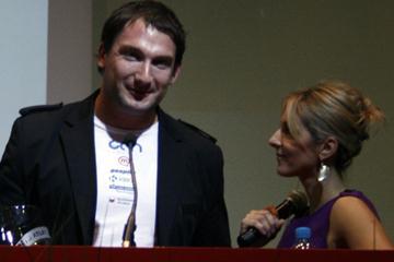 Reigning World and Olympic Hammer Throw champion Primoz Kozmus winning the 2009 Slovenian Athlete of the Year award in Ljubljana (Bob Ramsak)