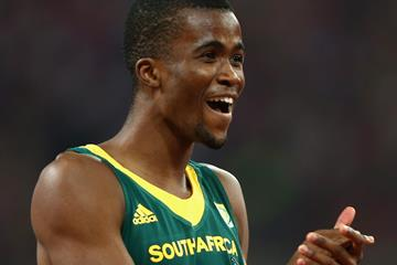 Anaso Jobodwana in the 200m at the IAAF World Championships, Beijing 2015 (Getty Images)