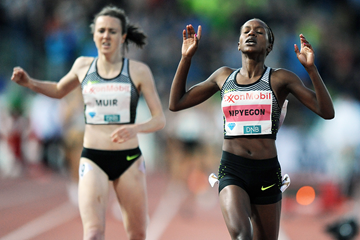 Faith Kipyegon wins the mile at the IAAF Diamond League meeting in Oslo (Mark Shearman)