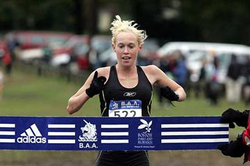 Kim Smith wins the 16th Annual Mayor's Cup Cross Country in Boston (Victah Sailer)