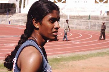 Raju Poovamma after her sprint double at the Indian Youth Championships (Ram. Murali Krishnan)