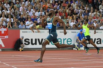 LaShawn Merritt comfortably wins the 400m at the 2014 IAAF Diamond League final in Zurich (Jean-Pierre Durand)
