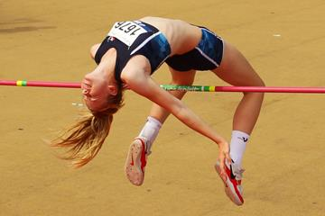 Eleanor Patterson, winner of the high jump (Getty Images)