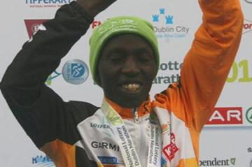 Geoffrey Ndungu after his course record in Dublin (Cóilín Duffy)