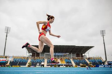 Chen Ting in the triple jump at the IAAF World U20 Championships Bydgoszcz 2016 (Getty Images)