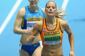 Nadine Broersen in the pentathlon 800m at the 2014 IAAF World Indoor Championships (Getty Images)