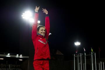 Mariya Kuchina at the 2014 IAAF Diamond League meeting in Stockholm (DECA Text & Bild)