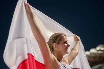Javelin winner Klaudia Maruszewska at the IAAF World U20 Championships Bydgoszcz 2016 (Getty Images)