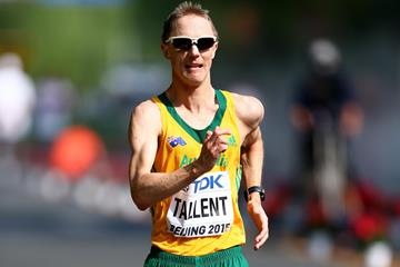 Jared Tallent in the 20km race walk at the IAAF World Championships, Beijing 2015 (Getty Images)