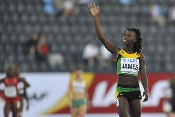 Tiffany James after winning the 400m at the IAAF World U20 Championships Bydgoszcz 2016 (Getty Images)