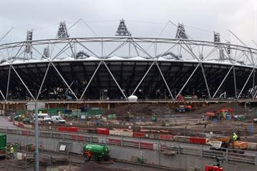 A view of the London Olympic Stadium under construction (IAAF.org)