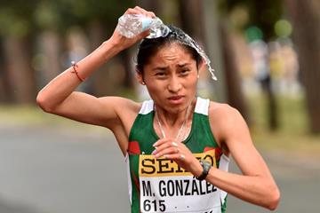 Maria Guadalupe Gonzalez in the women's 20km at the IAAF World Race Walking Team Championships Rome 2016 (Getty Images)