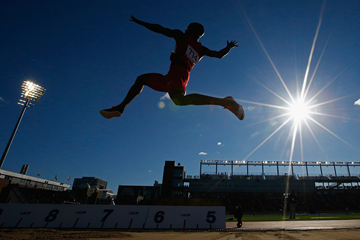 Jeffery Henderson in the long jump at the Pan American Games (Getty Images)