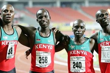 Kenya's All Africa Games 4x400m Relay team, from left: Anderson Mureta, Jonathan Kibet, Vincent Mumo and Mark Mutai (Mohammed Amin/Nation)