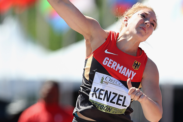 Alina Kenzel in the shot put at the IAAF World Junior Championships Oregon 2014 (Getty Images)