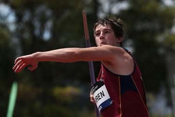 Australian javelin thrower Conor Warren (Getty Images)
