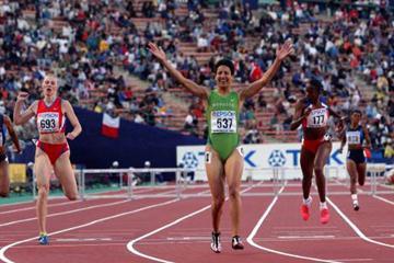 400m Hurdles Final - Nezha Bidouane (© Allsport)